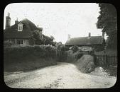 view [Miscellaneous Sites in West Sussex, England]: two houses in the village of Bury, West Sussex. digital asset: [Miscellaneous Sites in West Sussex, England] [lantern slide]: two houses in the village of Bury, West Sussex.