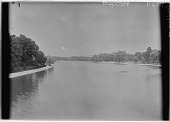 view [Hampton Court Palace]: the River Thames at Hampton Court. digital asset: [Hampton Court Palace] [glass negative]: the River Thames at Hampton Court.