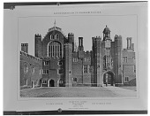 view [Hampton Court Palace]: the entrance court. digital asset: [Hampton Court Palace] [glass negative] the entrance court.