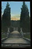 view [Miscellaneous Sites in Groombridge, Kent, England]: stairs leading up through the formal garden at Groombridge Place. digital asset: [Miscellaneous Sites in Groombridge, Kent, England]: stairs leading up through the formal garden at Groombridge Place.: [between 1925 and 1935]