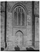 view [Pulborough Church]: part of the main façade of the Parish Church of St. Mary in Pulborough, West Sussex. digital asset: [Pulborough Church] [glass negative]: part of the main façade of the Parish Church of St. Mary in Pulborough, West Sussex.