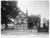 view [Miscellaneous Sites in Stratford-upon-Avon, Warwickshire, England]: St. Andrew's Church of England Primary School in Shottery. digital asset: [Miscellaneous Sites in Stratford-upon-Avon, Warwickshire, England] [glass negative]: St. Andrew's Church of England Primary School in Shottery.