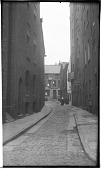 view [Unidentified Sites In England]: an unidentified street scene, probably in Liverpool. digital asset: [Unidentified Sites In England] [negatives]: an unidentified street scene, probably in Liverpool.