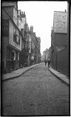 view [Unidentified Sites in England]: a street scene in an unidentified location. digital asset: [Unidentified Sites in England] [negative]: a street scene in an unidentified location.