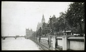 view [Miscellaneous Sites in London, England]: the Thames Embankment near the Houses of Parliament. digital asset: [Miscellaneous Sites in London, England] [lantern slide]: the Thames Embankment near the Houses of Parliament.