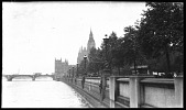 view [Miscellaneous Sites in London, England]: the Victoria Embankment along the north bank of the River Thames. digital asset: [Miscellaneous Sites in London, England] [negative]: the Victoria Embankment along the north bank of the River Thames.