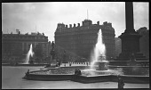 view [Miscellaneous Sites in London, England]: Trafalgar Square, with Nelson's Column on the right. digital asset: [Miscellaneous Sites in London, England] [negative]: Trafalgar Square, with Nelson's Column on the right.