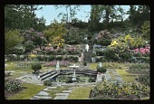 view [The Homestall]: pool and terraced formal garden at The Homestall, later known as Dutton Homestall. digital asset: [The Homestall]: pool and terraced formal garden at The Homestall, later known as Dutton Homestall.: [between 1925 and 1935]