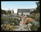 view [Miscellaneous Sites in Worcestershire, England]: garden borders at Bannits in Broadway. digital asset: [Miscellaneous Sites in Worcestershire, England]: garden borders at Bannits in Broadway.