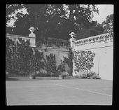 view [Cliveden]: probably a sunken tennis court. digital asset: [Cliveden] [lantern slide]: probably a sunken tennis court.