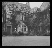 view [Hidcote Manor Garden]: the main entrance to the house. digital asset: [Hidcote Manor Garden] [lantern slide]: the main entrance to the house.