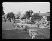 view [Court Farm]: part of the extensive house and garden at Court Farm, Broadway, Worcestershire. digital asset: [Court Farm] [lantern slide]: part of the extensive house and garden at Court Farm, Broadway, Worcestershire.