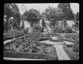 view [Orchard Farm]: the sunken garden. digital asset: [Orchard Farm] [lantern slide]: the sunken garden.