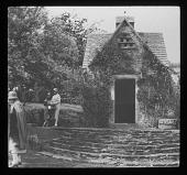 view [Notgrove Manor]: dovecote garden house. digital asset: [Notgrove Manor] [lantern slide]: dovecote garden house.