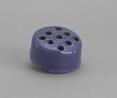view <I>Frog, blue ceramic, round</I> digital asset number 1