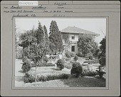 view Cummer Garden: Southern garden digital asset: Cummer Garden [photoprint] pool garden and garage.