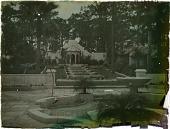 view [Unidentified Garden in Florida]: pavilion and fountain digital asset: [Untitled Garden in Florida]: pavilions and fountains.: 1930.
