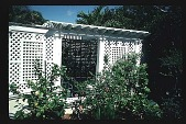 view [Untitled Garden]: slat house. digital asset: [Untitled Garden]: slat house.: 1996 May. 9.