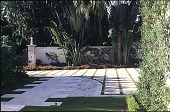 view [Untitled Garden in Palm Beach, Florida]: driveway area. digital asset: [Untitled Garden in Palm Beach, Florida]: driveway area.: 2000 May.