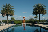 "view [Casa del Carnevale]: ""Seahorse"" by Frederick Prescott at the end of the swimming pool overlooking the bay and Otter Key State Park. digital asset: [Casa del Carnevale]: ""Seahorse"" by Frederick Prescott at the end of the swimming pool overlooking the bay and Otter Key State Park."