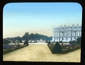 view [Versailles]: a corner of the palace and the gardens. digital asset: [Versailles]: a corner of the palace and the gardens.: [between 1900 and 1930]