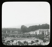 view [Versailles]: formal gardens with water feature. digital asset: [Versailles]: formal gardens with water feature.: [between 1900 and 1930]