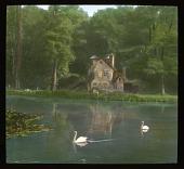view [Versailles]: a site in the Hameau de la Reine, Marie Antoinette's rustic, faux country village in the Versailles park. digital asset: [Versailles]: a site in the Hameau de la Reine, Marie Antoinette's rustic, faux country village in the Versailles park.: 1936 Jul.