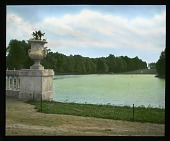 view [Miscellaneous Sites in France, Series 3]: looking from the Château de Rambouillet across its artificial lake or canal. digital asset: [Miscellaneous Sites in France, Series 3]: looking from the Château de Rambouillet across its artificial lake or canal.: 1936 Jul.