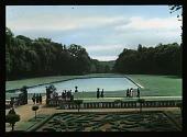 view [Château de Courances]: parterre garden and water feature. digital asset: [Château de Courances]: parterre garden and water feature.: 1936 Jul.