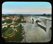 view [Miscellaneous Sites in Montpellier, France]: the aqueduct and Promenade du Peyrou. digital asset: [Miscellaneous Sites in Montpellier, France]: the aqueduct and Promenade du Peyrou.: [between 1900 and 1915]