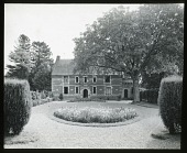 view [Manoir d'Archelles and Vicinity]: looking from the gatehouse to the manor house. digital asset: [Manoir d'Archelles and Vicinity] [lantern slide]: looking from the gatehouse to the manor house.