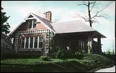 view [Phinizy Garden]: side view of bungalow with trellis on side. digital asset: [Phinizy Garden]: side view of bungalow with trellis on side.: [between 1914 and 1949?]