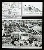 view Plans of Chevening: The old gabled house as drawn on the estate map of 1613. The Chevening lay-out in 1679 and in 1719. digital asset: Plans of Chevening: The old gabled house as drawn on the estate map of 1613. The Chevening lay-out in 1679 and in 1719.: [between 1914 and 1949?]