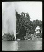 view Bergpark Wilhelmshöhe: the lake, Grand Fountain, and a tempietto. digital asset: Bergpark Wilhelmshöhe: the lake, Grand Fountain, and a tempietto.: [between 1914 and 1949]