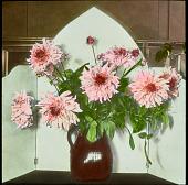 view [Miscellaneous Flower Arrangements]: dahlias display. digital asset: [Miscellaneous Flower Arrangements]: dahlias display.: [between 1914 and 1949?]