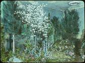 view [School Garden Exhibitions]: a garden of conifers as exhibited indoors. digital asset: [School Garden Exhibitions]: a garden of conifers as exhibited indoors.: [between 1914 and 1949?]