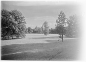 view [Muskau Park and Vicinity]: looking across the park to the New Castle. digital asset: [Muskau Park and Vicinity] [glass negative]: looking across the park to the New Castle.