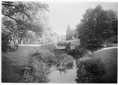 """view [Muskau Park and Vicinity]: rock """"dam"""" and ponds in the park. digital asset: [Muskau Park and Vicinity] [glass negative]: rock """"dam"""" and ponds in the park."""