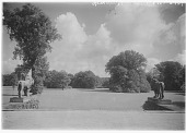 view [Muskau Park and Vicinity]: looking south from the carriage entrance of the New Castle. digital asset: [Muskau Park and Vicinity] [glass negative]: looking south from the carriage entrance of the New Castle.