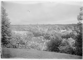 view [Muskau Park and Vicinity]: a view over the rooftops of Bad Muskau toward the New Castle. digital asset: [Muskau Park and Vicinity] [glass negative]: a view over the rooftops of Bad Muskau toward the New Castle.