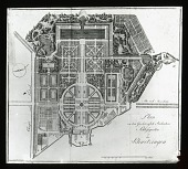 view [Schwetzingen Palace Gardens]: plan for the garden, designed by Nicolas de Pigage in the 18th century. digital asset: [Schwetzingen Palace Gardens]: plan for the garden, designed by Nicolas de Pigage in the 18th century.: [between 1914 and 1949]