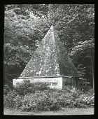 view Marmorpalais: the ice house shaped as a pyramid in the New Garden. digital asset: Marmorpalais: the ice house shaped as a pyramid in the New Garden.: [between 1914 and 1949]