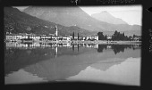 view [Miscellaneous Sites in the Italian Lakes]: the town of Porlezza, on Lake Lugano. digital asset: [Miscellaneous Sites in the Italian Lakes] [negative]: the town of Porlezza, on Lake Lugano.