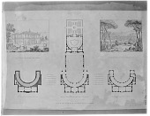 view [Villa di Papa Giulio]: plans and drawings of the villa and its grounds. digital asset: [Villa di Papa Giulio] [glass negative]: plans and drawings of the villa and its grounds.