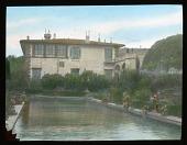 view [Villa Gamberaia]: the villa and part of the water garden. digital asset: [Villa Gamberaia]: the villa and part of the water garden.: [between 1914 and 1949]