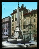 view Macuteo Obelisk: a view of the obelisk and adjacent buildings in the Piazza della Rotonda. digital asset: Macuteo Obelisk: a view of the obelisk and adjacent buildings in the Piazza della Rotonda.: [between 1900 and 1930]