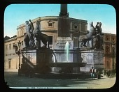view Fontana del Quirinale: a view of the fountain, also known as the Fontana dei Dioscuri. digital asset: Fontana del Quirinale: a view of the fountain, also known as the Fontana dei Dioscuri.: [between 1900 and 1930]