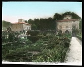 view [Villa Lante]: villa buildings and the parterre garden. digital asset: [Villa Lante]: villa buildings and the parterre garden.: [between 1900 and 1930]