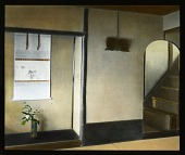 view [Miscellaneous Sites in Japan]: an interior at an unidentified location, possibly the Tenryu-ji Monastery in Kyoto, showing ikebana and a scroll. digital asset: [Miscellaneous Sites in Japan]: an interior at an unidentified location, possibly the Tenryu-ji Monastery in Kyoto, showing ikebana and a scroll.: 1935 May.