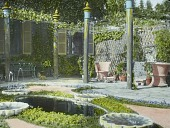 view [Naumkeag]: the Afternoon Garden, with house on the left. digital asset: [Naumkeag]: the Afternoon Garden, with house on the left.: [circa 1930s]